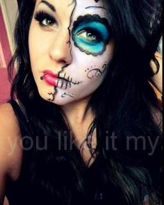 You Like It My...: Sugar Skull Makeup For Day Of The Dead by janiferwolf