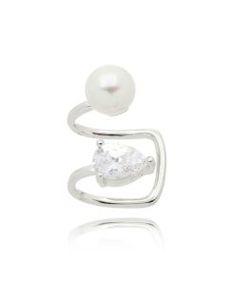 piercing da moda prata com banho de rodio
