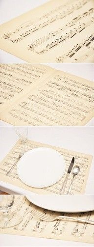 ...please don't stop the music. Clever way to use all of those music books from over the years. #music #party #decor