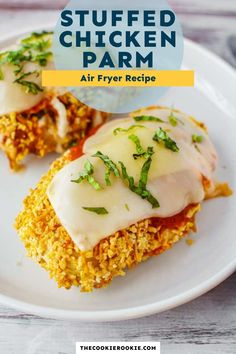 Cooked in the air fryer for maximum crispiness and flavor, this stuffed chicken parmesan recipe is perfect for an easy weeknight meal that the whole family will love. #airfryer #crispychicken #weeknightdinner #chickenparmesan Italian Chicken Recipes, Chicken Parmesan Recipes, Best Chicken Recipes, Easy Family Meals, Easy Weeknight Meals, Easy Meals, Family Recipes, Stuffed Chicken
