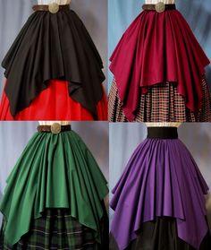 Ren Faire Costumes | Overlay Skirt for Costume - Lots of Colors - Renaissance Faire ...