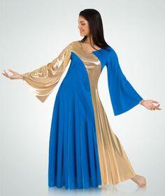 592 Asymmetrical Bell Sleeve Dress $41.25