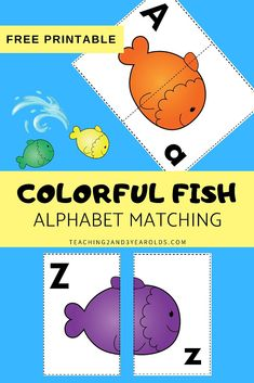 Looking for a fun way to work on alphabet skills with a fish theme? This fish alphabet printable activity includes free cards that challenge preschoolers to match the uppercase letter to the lowercase letter. #free #printable #activity #fish #ocean #alphabet #literacy #abc #matching #game #pets #3yearolds #4yearolds #teaching2and3yearolds Alphabet Games For Kindergarten, Free Games For Kids, Teaching The Alphabet, Preschool Learning Activities, Preschool Printables, Preschool Lessons, Alphabet Activities, Preschool Dinosaur, Fun Learning
