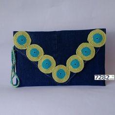 Nº 02 - Clutch Círculos de Crochet (VENDIDA) - 7282 Ecoluxo