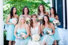 gorgeous Tiffany blue bridesmaids dresses