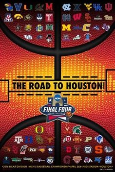 2016 Official NCAA Final Four March Madness All Teams Basketball Print Poster #ProGraphs