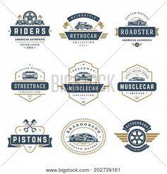 Car logos templates vector design elements set, vintage style emblems and badges retro illustration. Draw Logo, Geometric Origami, Restaurant Logo Design, Photographer Logo, Luxury Business Cards, Greeting Card Template, Luxury Logo, Badge Design, Retro Illustration
