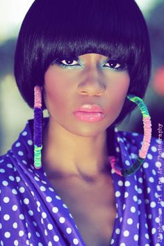 Love the make up colours and look brown skin darker skin pretty black woman