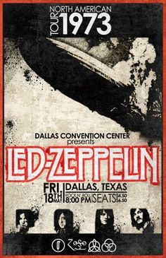 Led Zeppelin in Dallas, TX 1973. The year I was born.