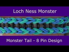 Monster Tail® LOCH NESS MONSTER Bracelet. An official Rainbow Loom design. Looming and tutorial by Suzanne Peterson. Click photo for YouTube tutorial. 06/22/14.
