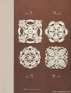 Lace, applique and edgings in pinapple pattern. #Japanese #crochet #book