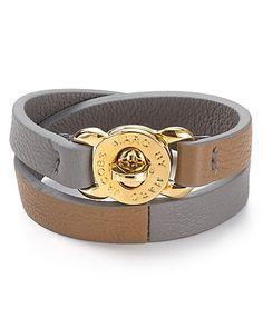 MARC BY MARC JACOBS Katie Double Wrap Leather Bracelet | Bloomingdale's