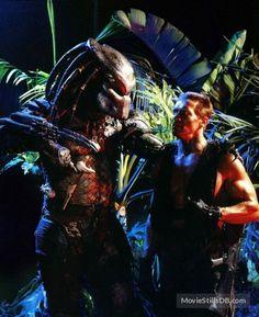 Predator - Promo shot of Arnold Schwarzenegger & Kevin Peter Hall