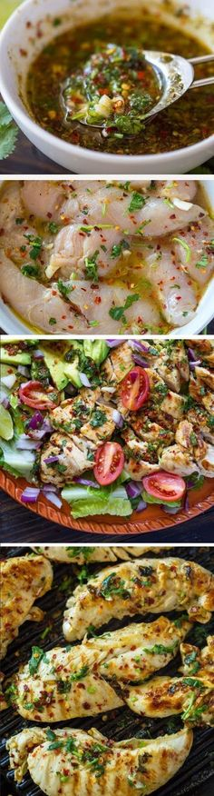 Grilled Chili Cilantro Lime Chicken - 9 Healthy Chicken Recipes for a Perfect Guilt Free Dinner I Love Food, Good Food, Yummy Food, Tasty, Grilling Recipes, Cooking Recipes, Healthy Recipes, Keto Recipes, Mexican Recipes