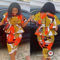 Ankara Skirt and Blouse Hot and Prettiest Ankara Skirt and Blouse – See 200 Stylish Designs for you to Rock African Print Wedding Dress, African Print Dress Designs, African Print Skirt, African Print Dresses, African Print Fashion, African Dress, Yellow Pencil Skirt Outfit, Ankara Skirt And Blouse, Ankara Dress