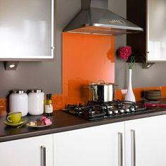 Glas Küchenrückwand Spritzschutz Küche Orange