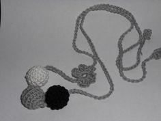 Hordozós nyaklánc - 3 golyós, fonAlom, meska.hu Baba, Teething Necklace, Crochet Necklace, Necklaces, Jewelry, Products, Jewlery, Crochet Collar, Bijoux