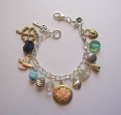 Stunning One of a Kind Charm Bracelet by blushingpixie on Etsy, $38.00