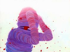 Living and working out of Oakland, California, visual artist Brendan Monroe weaves a magical spell in his work. http://illusion.scene360.com/art/66264/pink-blob-monster/ #art #painting #brendanmonroe