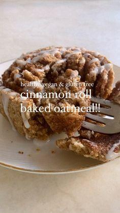 Healthy Sweets, Healthy Dessert Recipes, Healthy Baking, Vegan Recipes, Snack Recipes, Oatmeal Recipes, Diet Recipes, Healthy Banana Recipes, Healthy Cinnamon Rolls