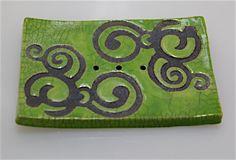 Seifenschale Raku Grün Unikat Handarbeit töpfern | eBay