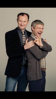 Mark Gatiss and Martin Freeman
