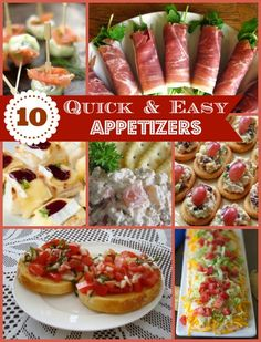 10 Quick and Easy Appetizers for any party, holiday or event on www.prettymyparty.com.