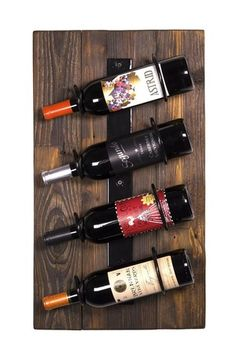 Rustic Wall Mounting Wine Racks