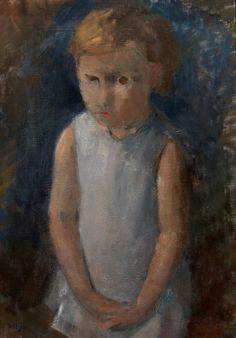 Hippolyte Daeye (Belgian, 1873-1952) Little Girl (Meisje),...