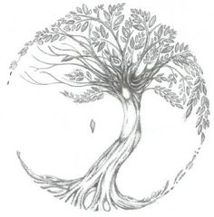 Tree Of Life Tattoo (i Want To Add This To My Tree I Already Have. Make It A Little More Circular With The Blossoms Like The Tree Of Life)