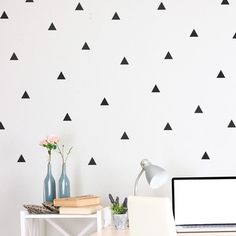 My design inspiration: Triangle Wall Decals Black on Fab.