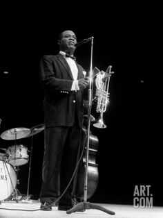 Louis Armstrong Jazz Musician, During His First Concert in Great Britain, May 1956 Photographic Print