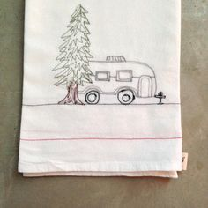 CAMPER thread sketched free motion embroidery by LeosDryGoods