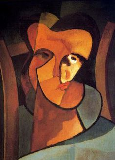 Emilio Pettorutti - Self Portrait (Argentine 1892-1971)