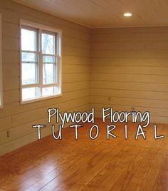Plywood Flooring Tutorial remodelaholic.com #flooring #wood_floors #plywood