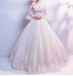 Schatz 3 d blume, applique, schnüren hochzeitskleid – Backen Infinity – Sweetheart 3 d flower, applique, lace wedding dress – Baking Infinity – dress