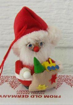 Steinbach Santa ornament German, Christmas Ornaments, Vintage, Collection, Deutsch, German Language, Christmas Jewelry, Vintage Comics, Christmas Baubles