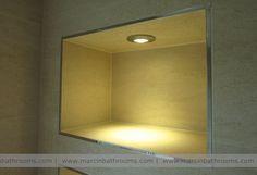 illuminated alcove, bathroom storage ideas #bathroom #storage