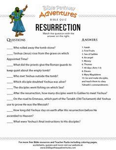 The Resurrection Bible Quiz for Kids Bible Trivia, Bible Quiz, Bible Games, Children's Bible, Bible Activities, Free Bible, Bible Study For Kids, Bible Lessons For Kids, Bible For Kids