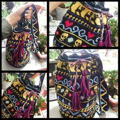 Canto do Pano Artesanato: Minha terceira bolsa inspirada no modelo Wayuu