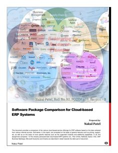 A Comparison of Cloud based ERP Systems by Nakul Patel via slideshare