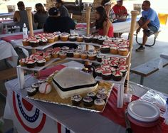 I didn't make this my dad made the baseball stadium and my sister did the awesome cakes!