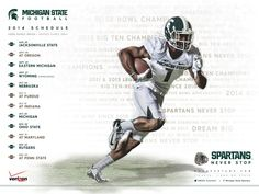 A Spartans Guide to Tailgate Trash Talk, 2014 American Football, Msu Football, Michigan State Football, College Football Teams, Michigan State University, Football Season, Football Game Schedule, Detroit State, Jacksonville State