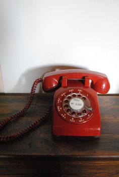 1970s Rotary Phone. When I got my own phone line as a teen, I found this phone at the DAV and used it for a few years. Loved it!