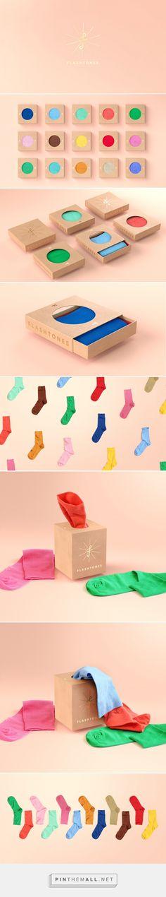 #Packaging de calcetines #diseño Flashtones by Petr Kudlacek