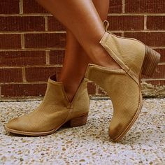 """Bootie - """"Stop By"""" Tan $148.00"""