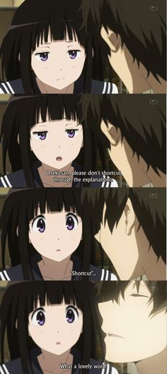 hyouka oreki and chitanda lemon - Google Search