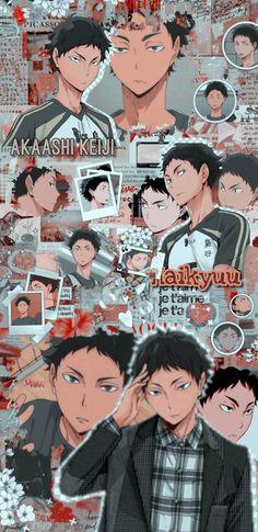Haikyuu Wallpaper, Cute Anime Wallpaper, Retro Wallpaper, Haikyuu Manga, Haikyuu Fanart, Anime Collage, Anime Art, Character Aesthetic, Aesthetic Anime
