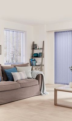 Shop Hillarys™ Made to Measure Blinds, Curtains, Shutters & Awnings! Book a FREE In-Home Design Appointment & Order Samples Today! House Blinds, Blinds For Windows, Made To Measure Blinds, Blinds Design, Purple Interior, Ash Color, Large Windows, Stripes, House Design