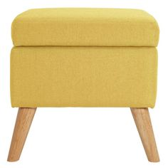 Buy Hygena Lexie Fabric Storage Footstool - Yellow at Argos. Thousands of products for same day delivery or fast store collection. Furniture Care, Living Room Furniture, New Home Essentials, Grey Armchair, Cocktail Chair, Storage Footstool, Free Fabric Samples, Fabric Storage